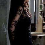 Salome&#039;s black, lacy dress