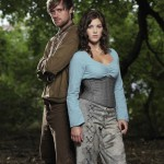 Lucy with co-star Jonas Armstrong in ROBIN HOOD