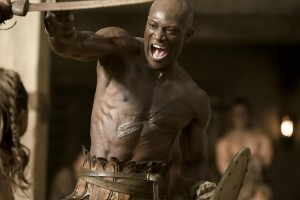 "Oenomaus action shot from ""Spartacus"""