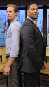 Alexander Skarsgard with Michael Strahan Photo Credit: Lorenzo Bevilaqua/Disney-ABC Domestic TV