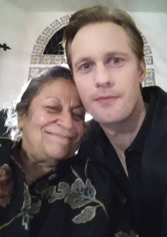 Alexander Skarsgard on the set of True Blood season 7 - by Dolores DeLuce