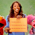 "Watch Rutina Wesley with New Pals Elmo and Abby Make a ""Plan"""