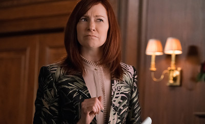 """Targets"" -- Alicia joins a secret panel of attorneys advising the U.S. government on a controversial case. Also, Eli hires Elsbeth Tascioni (Carrie Preston) to uncover why the FBI is targeting Peter, on THE GOOD WIFE, Sunday, Feb. 21 (9:00-10:00 PM, ET/PT) on the CBS Television Network. Pictured Carrie Preston  as Attorney Elsbeth Tascioni  Photo:  Jeff Neumann/CBS ©2015 CBS Broadcasting, Inc. All Rights Reserved"